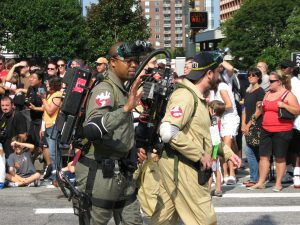 Ghostbuster cosplayers