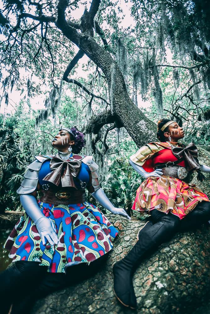 Wakanda Moon Cosplay as Sailor Uru and Sailor Adamantium