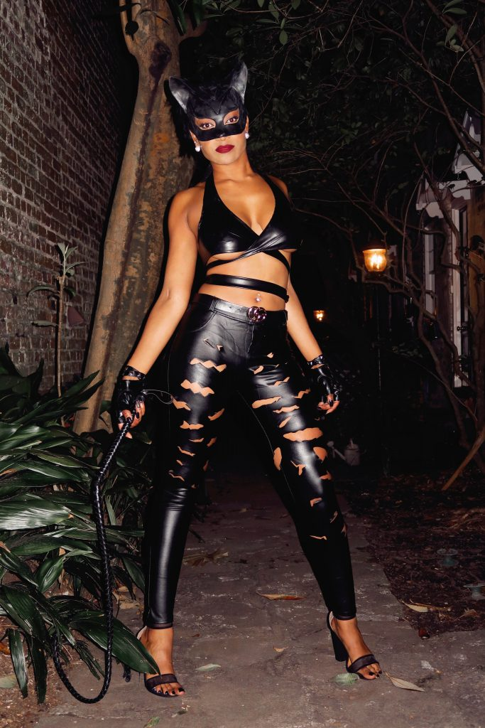 Lethal Barbie cosplaying as Catwoman