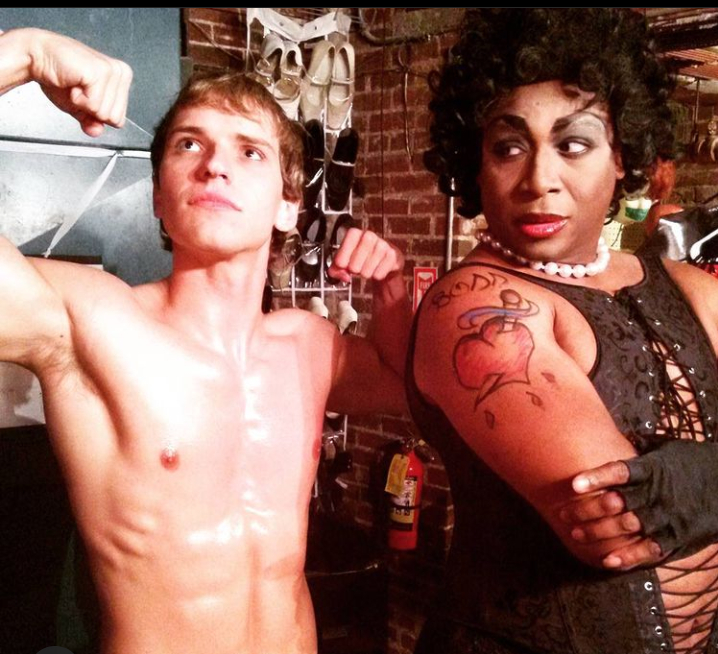 JavaKitty, right, as Frank N Furter from the The Rocky Horror Picture Show