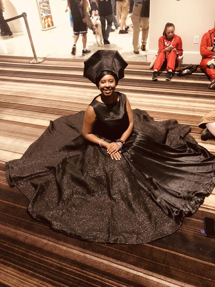 Mocha Princess as Queen Ramonda from Black Panther