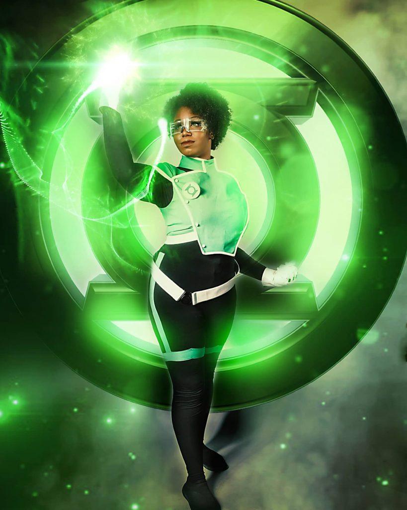 Iguanabomb as Jo Mullien, Green Lantern of the Far Sector