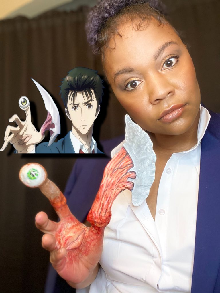 2 Face Cosplay dressed as Shinichi Izumi from Parasyte
