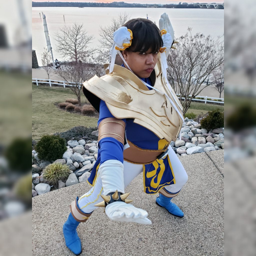 Lady J Cosplay as Chun-Li Ranger Blazzin' Phoenix from Power Ranger Legacy Wars