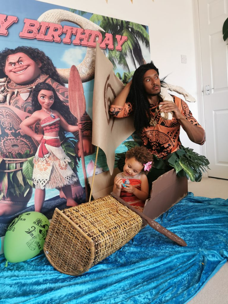 Zen as Maui and Moana from Moana
